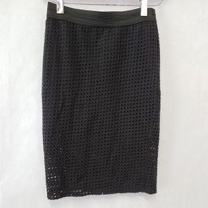 Zara Trafaluc Straight Pencil Skirt  stretch perfo